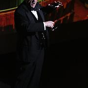 Tony Rivenbark accepts the Lela Thompson Award for Enduring Contribution to Wilmington Theater at the Wilmington Theater Awards at Thursday January 23, 2014 at Thalian Hall. (Jason A. Frizzelle)