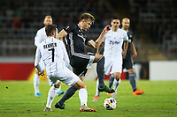 LINZ,AUSTRIA,19.SEP.19 - SOCCER - UEFA Europa League, group stage, Linzer ASK vs FC Rosenborg  Image shows Alexander Søderlund (RBK) and Rene Renner (LASK). <br /> <br /> Lask <br /> Norway only