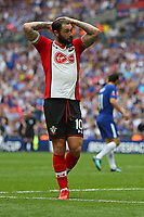 Football - 2017 / 2018 FA Cup - Semi Final: Chelsea vs. Southampton<br /> <br /> Southampton's Charlie Austin holds his head in his hands after missing another chance at Wembley Stadium <br /> <br /> COLORSPORT/SHAUN BOGGUST