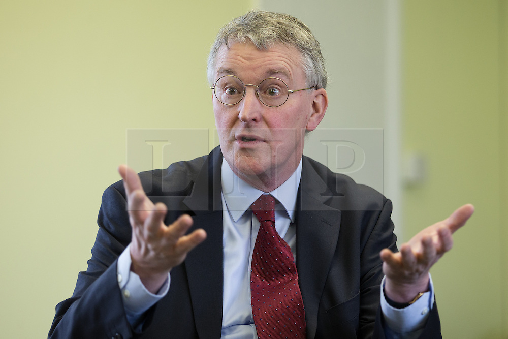 © Licensed to London News Pictures . 03/02/2014 . Manchester , UK . HILARY BENN , MP for Leeds Central and Shadow Community Secretary for the Labour Party , joins Labour candidate Mike Kane on the campaign trail ahead of the Wythenshawe and Sale East by-election , following the death of MP Paul Goggins . The pair speak to local pensioners about communities and housing . Photo credit : Joel Goodman/LNP