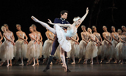 The Royal Ballet have launched their 2017/8 Programme today (5th April 2017) it includes a revival of Swan Lake which starts on 17th May 2018. <br /> <br /> <br /> Swan Lake <br /> The Royal Ballet, at the Royal Opera House, London, Great Britain <br /> 5th October 2012 <br /> <br /> rehearsal <br /> first night cast <br /> <br /> Marianela Nunez as Odette / Odile<br /> <br /> Thiago Soares as Prince Siegfried<br /> <br /> <br /> ChoreographyMarius Petipa<br /> ChoreographyLev Ivanov<br /> Additional ChoreographyFrederick Ashton<br /> Additional ChoreographyDavid Bintley<br /> MusicPyotr Il'yich Tchaikovsky<br /> ProductionAnthony Dowell<br /> DesignsYolanda Sonnabend<br /> Lighting designMark Henderson<br /> Production researchRoland John Wiley<br /> StagingChristopher Carr<br /> <br /> <br /> Photograph by Elliott Franks