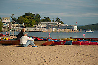 Lake Fest at Weirs Beach to attempt breaking of the Guinness World Record for kayak/canoe gathering.   © Karen Bobotas/for the Laconia Daily Sun