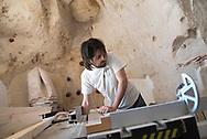 Massimo Casiello in his lab in the Sasso Caveoso