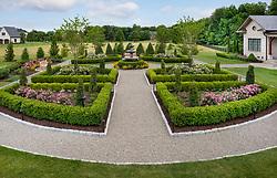 19702 Greenham exterior landscaping with formal Garden