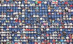 Empty seats inside the stadium during the FIFA World Cup third place play-off match at Saint Petersburg Stadium.