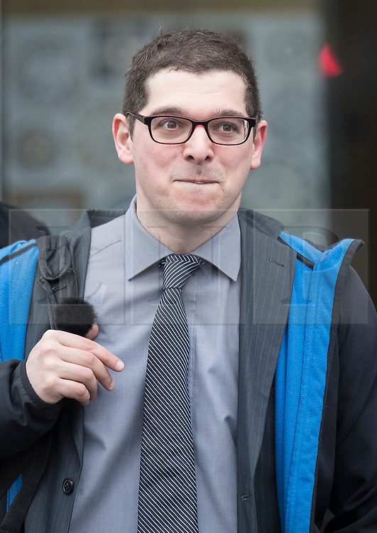 © Licensed to London News Pictures. 27/03/2018. London, UK. Paul-Olivier Dehaye arrives to appear as a witness at the Digital, Culture, Media and Sport committee on fake news at  Portcullis House.  Cambridge Analytica has been implicated in an investigation into the misuse of Facebook user data to influence the electoral outcomes, including the Brexit referendum. Photo credit: Peter Macdiarmid/LNP