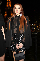 Actress Lindsay Lohan attends the Saint Laurent show as part of the Paris Fashion Week Womenswear Fall/Winter 2019/2020 on February 26, 2019 in Paris, France. Photo by Laurent Zabulon/ABACAPRESS.COM