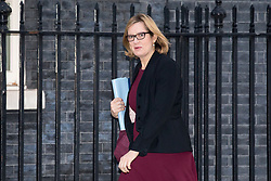 © Licensed to London News Pictures. 30/01/2018. London, UK. Home Secretary Amber Rudd arriving in Downing Street to attend a Cabinet meeting this morning. Photo credit : Tom Nicholson/LNP