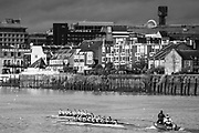 Putney, Greater London. 16 February 2020, Pre Boat Race Fixture, Cambridge University Women's Boat Club, CUWBC Goldie vs Tideway Scullers School,   Championship Course, Putney to Mortlake, River Thames, [Mandatory Credit: Peter SPURRIER/Intersport Images],