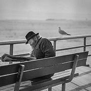 New York City , USA, B&W reportage photography , seaview Brooklyn Beach  NYC