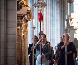 1 september 2018, Uppsala, Sverige: Svenska kyrkan håller sändningsgudstjänst i Uppsala domkyrka för personal som ska påbörja tjänstgöring för Svenska kyrkan i utlandet (SKUT).