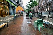 Nederland, Nijmegen, 2019Serie van lege terrassen voor het blad Hollandse Beelden . In het dorp. Foto: Flip Franssen