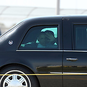 President Barack Obama visits the Vehicle Assembly Building at the Kennedy Space Center prior to the scrub of Endeavour's STS-134 launch. Hours later, President Obama would approve a military strike in Pakistan on Osama Bin Laden which would result in the death of the terrorist and mastermind of the 9/11 attack on the Twin Towers..Image taken on April 29, 2011. (Photo Credit: Alex Menendez)