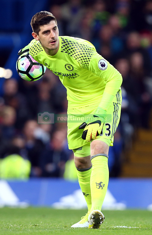 May 8, 2017 - London, England, United Kingdom - Chelsea's Thibaut Courtois during Premier League match between Chelsea and Middlesbrough at Stamford Bridge, London, England on 08 May 2017. (Credit Image: © Kieran Galvin/NurPhoto via ZUMA Press)