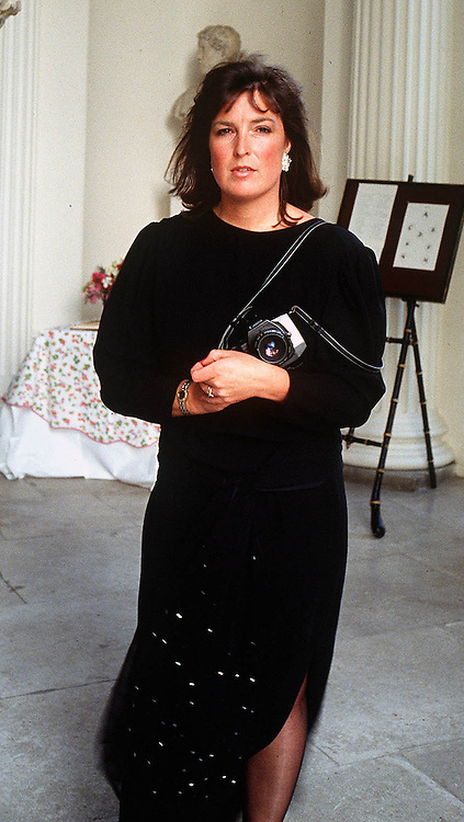 British photographer Jayne Fincher on assignment at Kensington Palace,London in 1989
