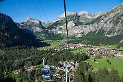 Kandersteg, seen from Oeschinnensee gondola lift in Switzerland, Europe.