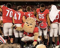 November 18, 2017 - Athens, GA, USA - Athens, GA - November 18, 2017: The number 7 ranked Georgia Bulldogs host the Kentucky Wildcats at Sanford Stadium.  Final score Georgia 42, Kentucky 13. (Credit Image: © Steven Limentani/ISIPhotos via ZUMA Wire)