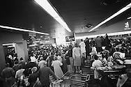 September 21, 1959. Nikita Khrushchev  admiring fabulous selection US foods. Security had asked the grocery store director not to let in his friends, but he obviously did not comply.<br /> <br /> 21 Septembre 1959. Nikita Khrouchtchev admirant la fabuleuse sélection d'aliments américains. Les Services Secrets avaient demandé au directeur du magasin ne pas laisser entrer ses amis, mais il n'a évidemment pas obeit.