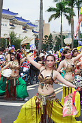 A modern, artisitc take on a traditional Taiwanese temple dance at the Dream Parade, Taipei