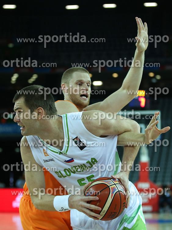 Uros Slokar of Slovenia during basketball match between Slovenia vs Netherlands at Day 4 in Group C of FIBA Europe Eurobasket 2015, on September 8, 2015, in Arena Zagreb, Croatia. Photo by Matic Klansek Velej / Sportida