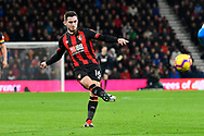 Lewis Cook (16) of AFC Bournemouth passes the ball during the Premier League match between Bournemouth and Huddersfield Town at the Vitality Stadium, Bournemouth, England on 4 December 2018.