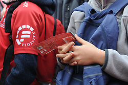 19 May 2018, Johannesburg. Emirates Airlines Park, Ellis Park. A youngster holds a ticket for the game.<br />Gauteng Emirates Lions vs Canberra Brumbies. Picture: Karen Sandison/African News Agency (ANA)