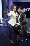 NEW YORK, NY-OCTOBER 15: 'A Day in the Life of Malinda Williams' as she promotes Dr. Miracle's campaign to empower women to undo the chemical damaging of hair processing held on October 15, 2015 in New York City.  Here she is photograph with (L) Lisa Sorensen, LS-PR  (Photo by Terrence Jennings/terrencejennings.com)