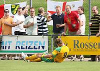 Photo: Maarten Straetemans.<br /> AGOVV Apeldoorn v Norwich City. Pre Season Friendly. 21/07/2007.<br /> David Strihavka sits on the ground in front of Norwich fans.