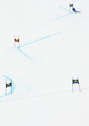 Skier during the 2nd Run of 7th Men's Giant Slalom - Pokal Vitranc 2013 of FIS Alpine Ski World Cup 2012/2013, on March 9, 2013 in Vitranc, Kranjska Gora, Slovenia. (Photo By Vid Ponikvar / Sportida.com)