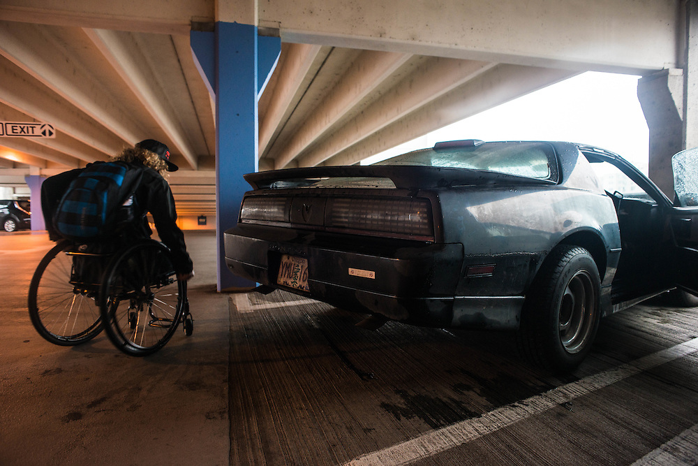 """Ravi has had his car since he was 16, his friends even nicknamed it """"the batmobile"""". He drove it from Eugene, OR all the way to the x-games in Aspen, CO this past year."""