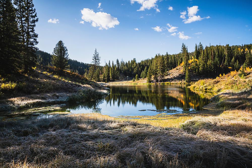 Madison Pond in Boiler Canyon, Soldier Summit, Utah.