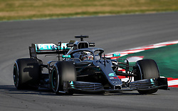 File photo dated 18-02-2019 of Mercedes Lewis Hamilton' during day one of pre-season testing at the Circuit de Barcelona-Catalunya.