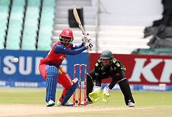 Omphile Mosehle of the Bizhub Highveld Lions during the T20 Challenge cricket match between the Lions and the Warriors at the Kingsmead stadium in Durban, KwaZulu Natal, South Africa on the 4th December 2016<br /> <br /> Photo by:   Steve Haag / Real Time Images