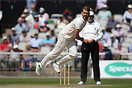 Lancashires Tom Bailey  during the Specsavers County Champ Div 2 match between Lancashire County Cricket Club and Northamptonshire County Cricket Club at the Emirates, Old Trafford, Manchester, United Kingdom on 14 May 2019.