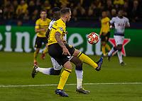 Football - 2018 / 2019 UEFA Champions League - Round of Sixteen, Second Leg: Borussia Dortmund (0) vs. Tottenham Hotspur (3)<br /> <br /> Paco Alcacer (Borussia Dortmund) gets in behind Davinson Sanchez (Tottenham FC) at Signal Iduna Park (Westfalenstadion).<br /> <br /> COLORSPORT/DANIEL BEARHAM