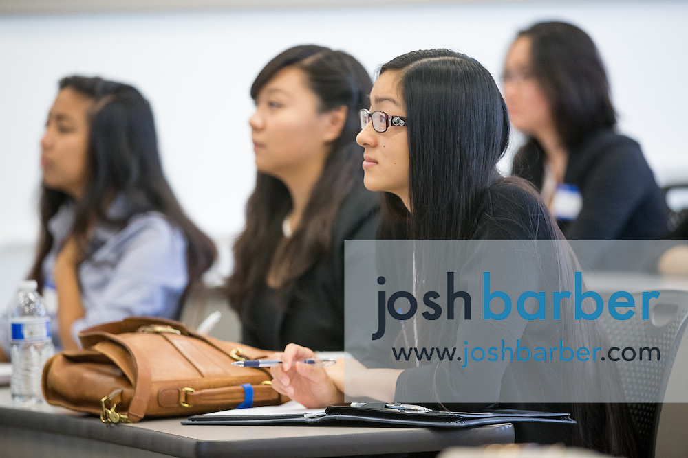 Amanda Tran during the first event of the Mihaylo College of Business and Economics Women's Leadership Program at California State University Fullerton  on Friday, Nov. 6, 2015 in Fullerton, California.