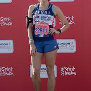 Jenni Falconer at London Marathon 2018 on 22 April 2018, Blackhealth, London, UK.