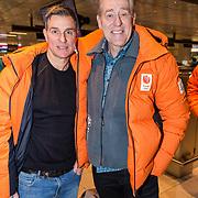 NLD/Amsterdam/20180209 - 538-team van Edwin Evers vertrekt naar de  Olympische Spelen,