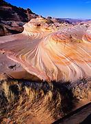 Wind-scuplted Navajo Sandstone, Vermilion Cliffs National Monument, Paria-Vermilion Cliffs Wilderness, Arizona.