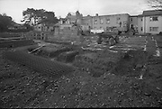 Brabazon House Construction..1986..11.12.1986..12.11.1986..11th December 1986..The Brabazon Trust commissioned the building of a new care home at Guilford Road, Sandyford,Dublin. A series of pictures were taken to show the outline construction of the building. It was hoped that the building would be ready for occupation in early 1987...Picture shows the foundations being readied for the construction of the new care home in Sandyford.