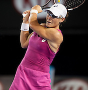 Samantha Strosur (AUS) battled A. Ivanovic (SRB) in day 5 of the Australian Open Women's Singles. Ivanovic won 7-6, 4-6, 2-6 in a rain inturrupted match.