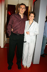PHIL RILEY Chief executive of Chysalis Radio and his wife JEAN at the 60th birthday party for Chris Wright held at Sketch, Conduit Street, London W1 on 7th September 2004.