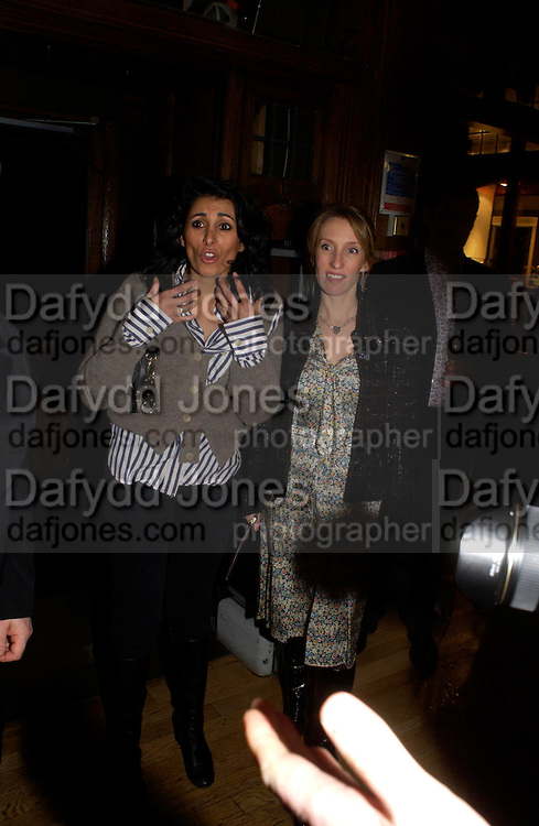 Serena Rees and Sam Taylor Wood, Party hosted by Isabella Blow in honour of Shaun Leane to celebrate his jewelry collection. Liberty's. London. 8 December 2004. ONE TIME USE ONLY - DO NOT ARCHIVE  © Copyright Photograph by Dafydd Jones 66 Stockwell Park Rd. London SW9 0DA Tel 020 7733 0108 www.dafjones.com