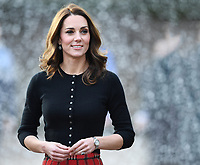 The Duke and Duchess of Cambridge host a Christmas party for families and children of deployed personnel from RAF Coningsby and RAF Marham serving in Cyprus, at Kensington Palace, London, UK, on the 4th December 2018.<br /> <br /> Picture by James Whatling