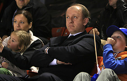 Damjan Mihevc and his wife, daughter and son at ice-hockey game Slovenia vs Slovakia at second game in  Relegation  Round (group G) of IIHF WC 2008 in Halifax, on May 10, 2008 in Metro Center, Halifax, Nova Scotia, Canada. Slovakia won after penalty shots 4:3.  (Photo by Vid Ponikvar / Sportal Images)