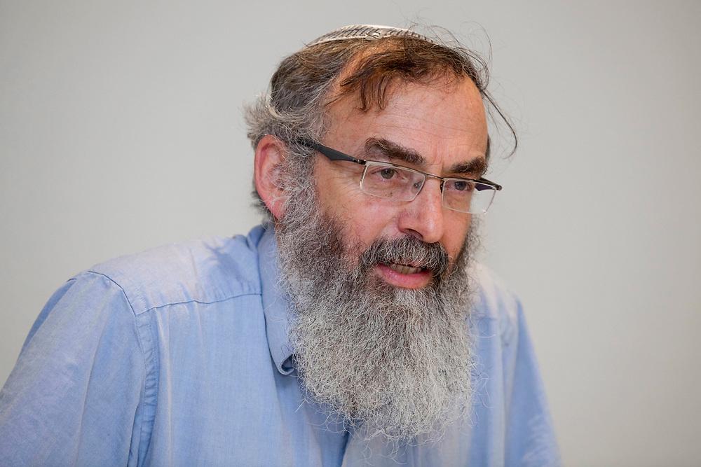 Rabbi David Stav, co-founder and the chairman of the Tzohar Rabbinical Organization speaks during a convention of the organization in Jerusalem, on February 20, 2012.