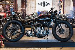 Harley-Davidson motorcycle designer Casey Ketterhagen's 1931 custom Harley-Davidson VL on Sunday at the Handbuilt Motorcycle Show. Austin, TX. April 12, 2015.  Photography ©2015 Michael Lichter.