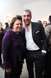 SUZY MENKES and ANTONIO MONFREDA at a party to celebrate the publication of Allegra Hick's book 'An Eye For Design' held at he Timothy Taylor Gallery, Carlos Place, London on 23rd November 2010.