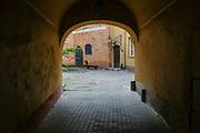 A courtyard in Vilnius, Lithuania