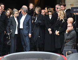 Charlotte Rampling, Jean-Jacques Bourdin, Anna Wintour, Bradley Cooper leaving the funeral service for late photographer Peter Lindbergh held at Saint Sulpice church in Paris, France on September 24, 2019. Photo by ABACAPRESS.COM